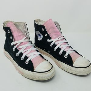 Converse All Star Chuck Taylor Hi Top Black Pink 8